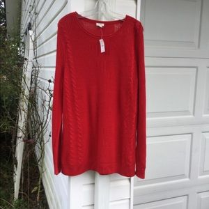 NWT Talbots Perfect For Leggings Red Sweater